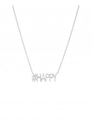 Halskette '#HAPPY' silber