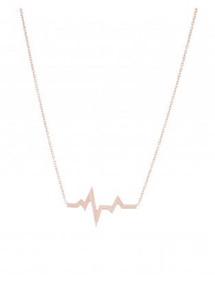 Halskette 'Heartbeat' Silber rosé vergoldet
