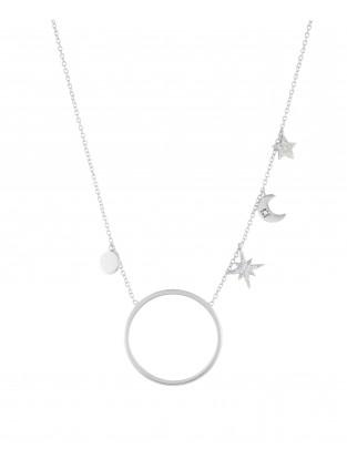 Halskette 'Midnight' Silber
