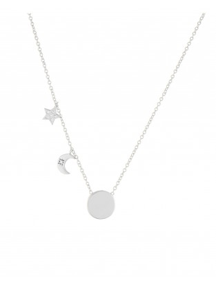 Halskette 'Moon and Star' Silber