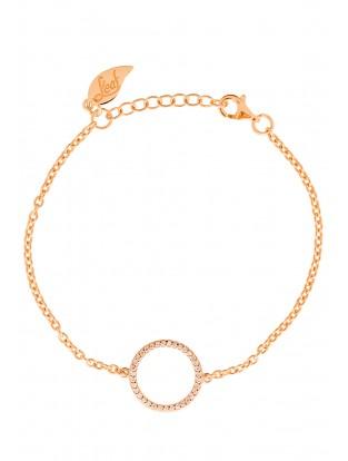 Leaf Armband Circle of Life rosé vergoldet