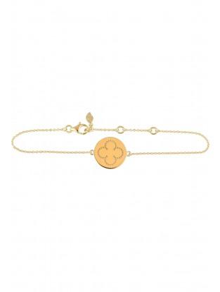 Leaf Armband 'Cloverleaf' vergoldet