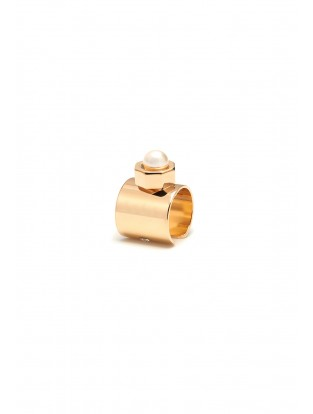 Maria Francesca Pepe Ear Cuff mit Perle vergoldet
