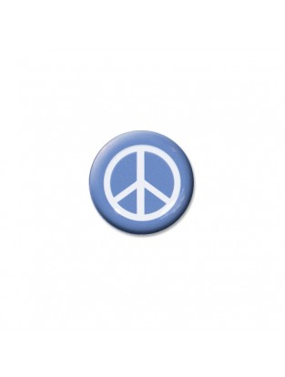 Brillen Aufkleber 'Inner Circle Peace' light blue