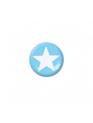 Brillen Aufkleber 'Inner Circle Star' turquoise blue
