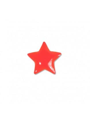Brillen Aufkleber 'Star' Kiss red