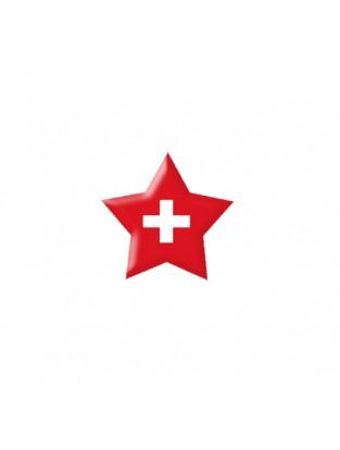 Brillen Aufkleber 'Star Flag' Schweiz