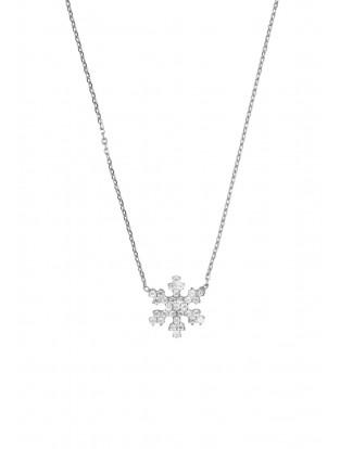 Kurshuni Halskette 'Schneeflocke' silber