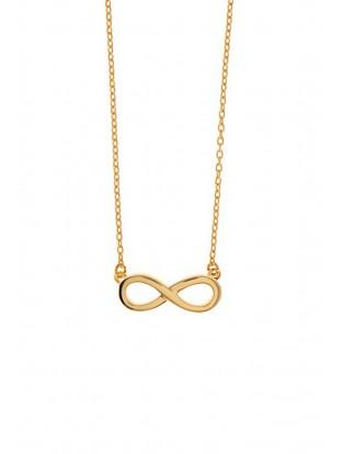 Leaf Halskette 'Infinity' vergoldet