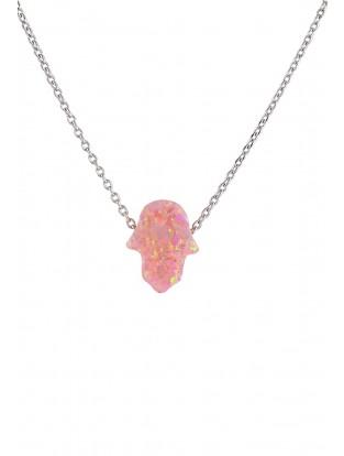 Halskette 'Rosa Fatima Hand' Silber