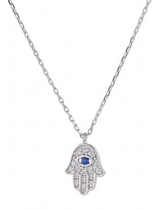 Halskette 'Fatima Hand' Silber