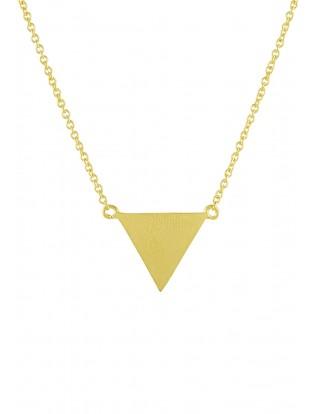 Halskette 'Triangle' matt vergoldet