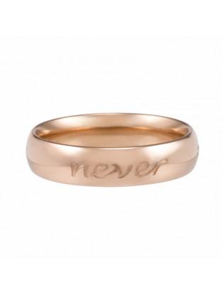 Ring 'Forever never ends' rosé vergoldet
