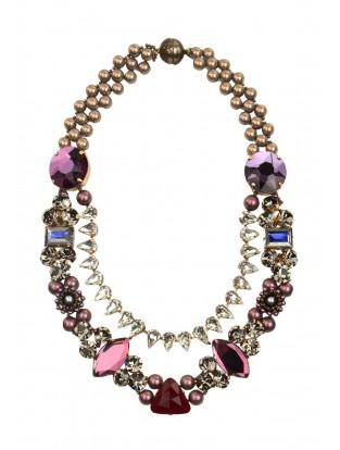 Halskette 'Leda Swarovski Crystals' berry