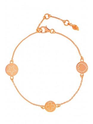 Leaf Armband 'Mini-Disc' rosé vergoldet