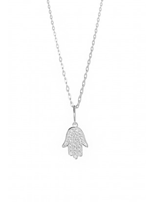 Leaf Halskette 'Fatima's Hand' Silber