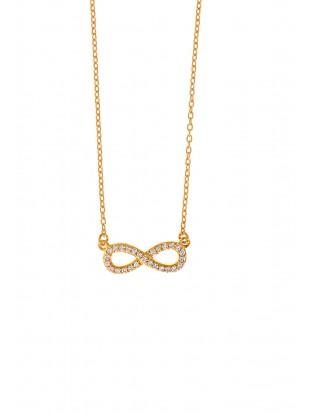 Leaf Halskette 'Infinity' Zirkonia vergoldet
