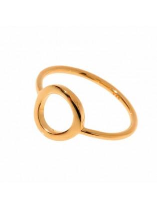 Leaf Ring 'Circle of Life' rosé vergoldet