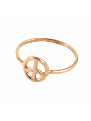Ring 'Peace' rosé vergoldet