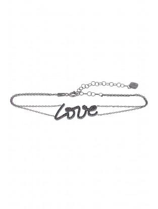 Armband 'LOVE' schwarz