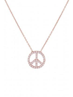 Halskette 'Peace' groß rosé vergoldet