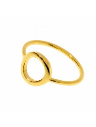 Leaf Ring 'Circle of Life' vergoldet