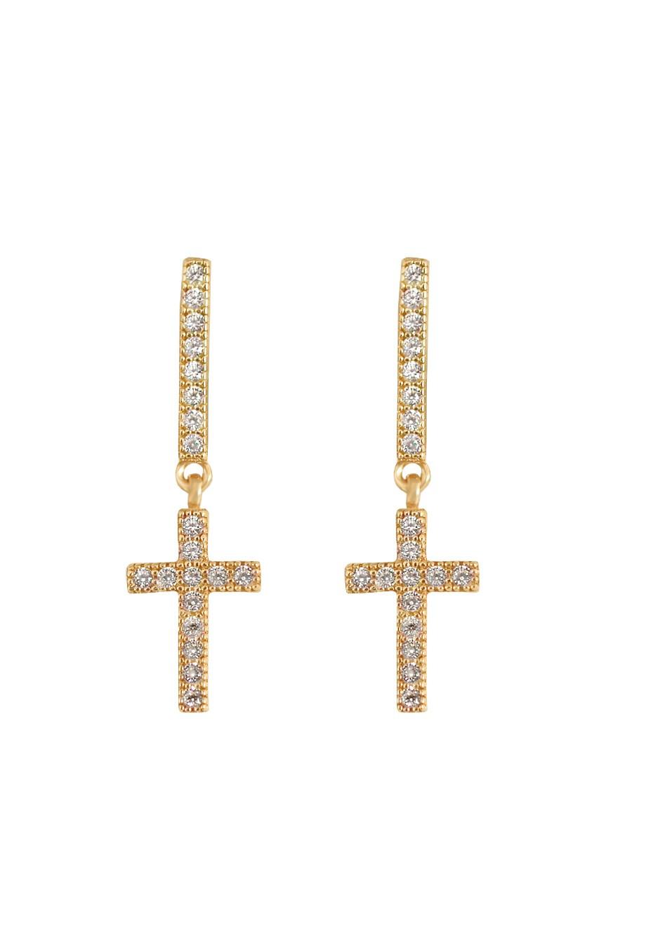 23a923b4da Ohrring  Mini Kreuz  vergoldet von Kurshuni