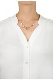 Anton Heunis Halskette 'Multi Pearl Crystal' cream