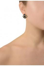 Anton Heunis Ohrring 'Crystal Cluster' glossy black