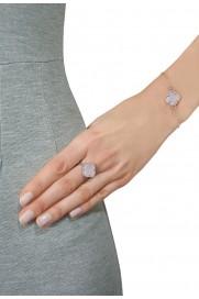 Armband 'Kleeblatt Simple' rosa Silber