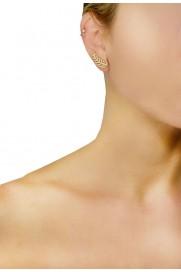 Amorium Mini Ear Cuff '2 Stones' vergoldet