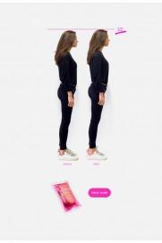 Invisible Heels 3/4 Einlegesohlen mit Absatz 2cm