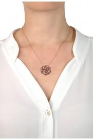 Halskette 'Love Symbol' rosé vergoldet