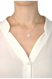 Halskette 'Perlmutt Blume' rosé vergoldet