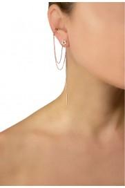Leaf Ear Cuff mit Stern rosé vergoldet