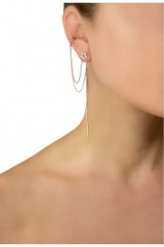 Leaf Ear Cuff mit Stern Silber