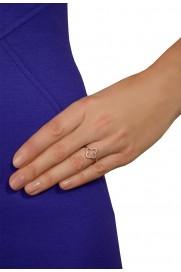 Leaf Ring 'Kleeblatt' Zirkonia rosé vergoldet