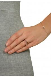 Leaf Ring mit Anhänger 'Herz' rosé vergoldet