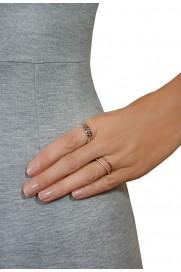 Leaf Ring 'Stars' Silber
