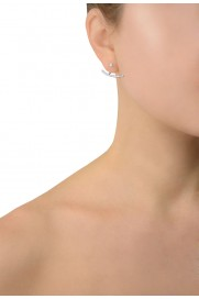 Pendel Ohrring mit Zirkonia silber