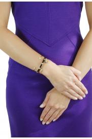 Makramee Armband schwarz mit Gold-Spikes