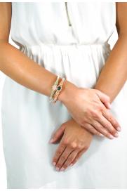Makramee Armband hellbeige/rosa