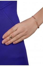 Armband 'Peace' mit Perlchen rosé vergoldet