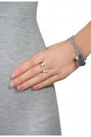 Armband mit Quasten & Kleeblatt silber