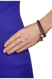 Ring mit doppelter Perle Silber