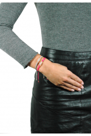Makramee Armband 'It´s a Girl' grau