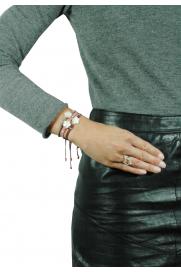 Makramee Armband 'Perlmutt' pflaume
