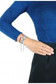 Makramee Armband 'Seestern' grau