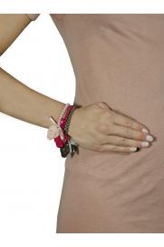 Armband 'Totenkopf' rosa