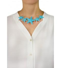 Halskette mit Seestern türkis
